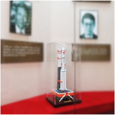 """长征七号甲运载火箭助推器试验件捐赠仪式在中国科学院与""""两弹一星""""纪念馆举行"""